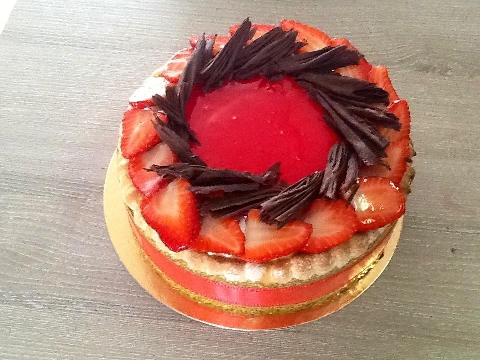 charlotte aux fraises cours de pâtisserie sur Bordeaux