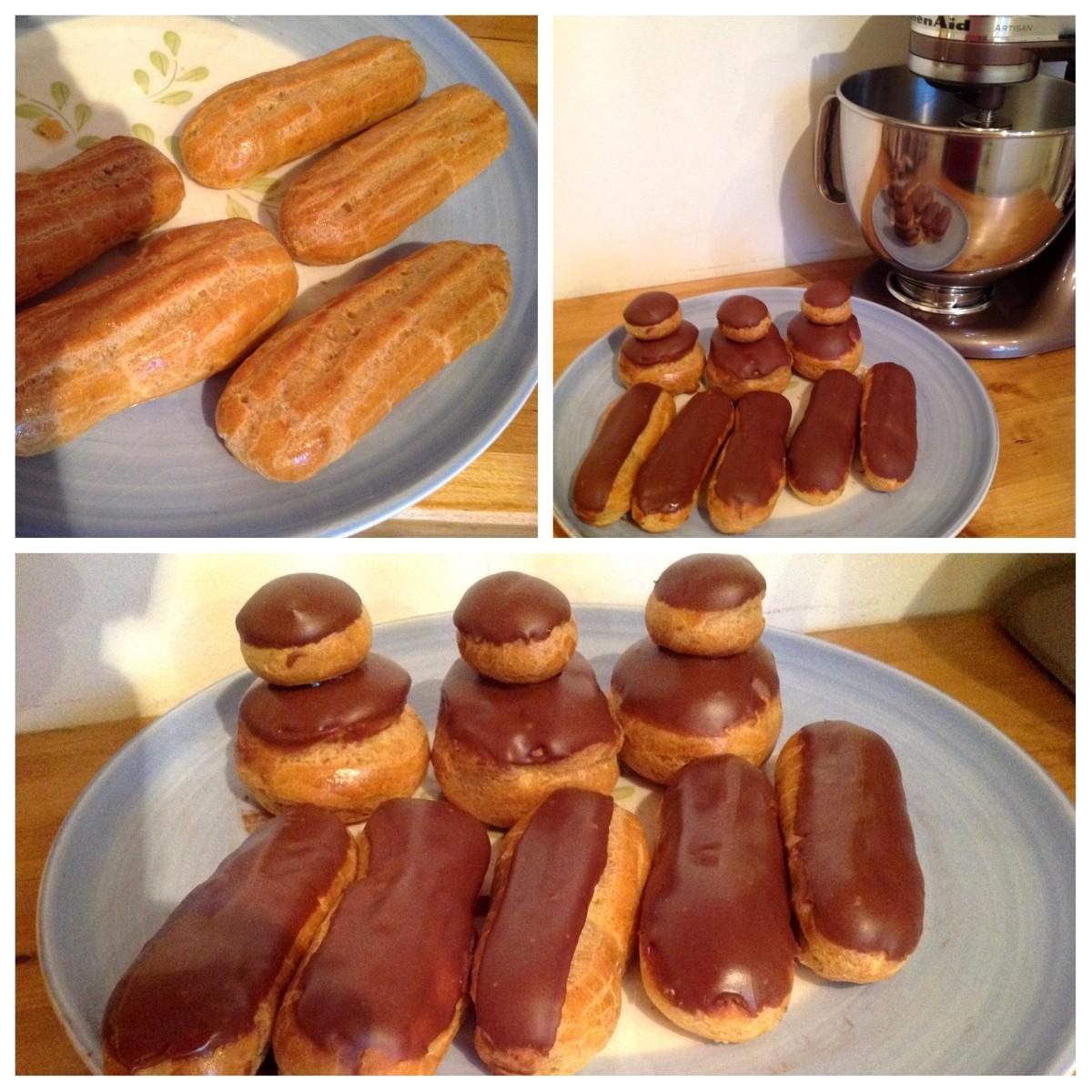 cours de pâtisserie sur Bordeaux religieuses et éclairs chocolat