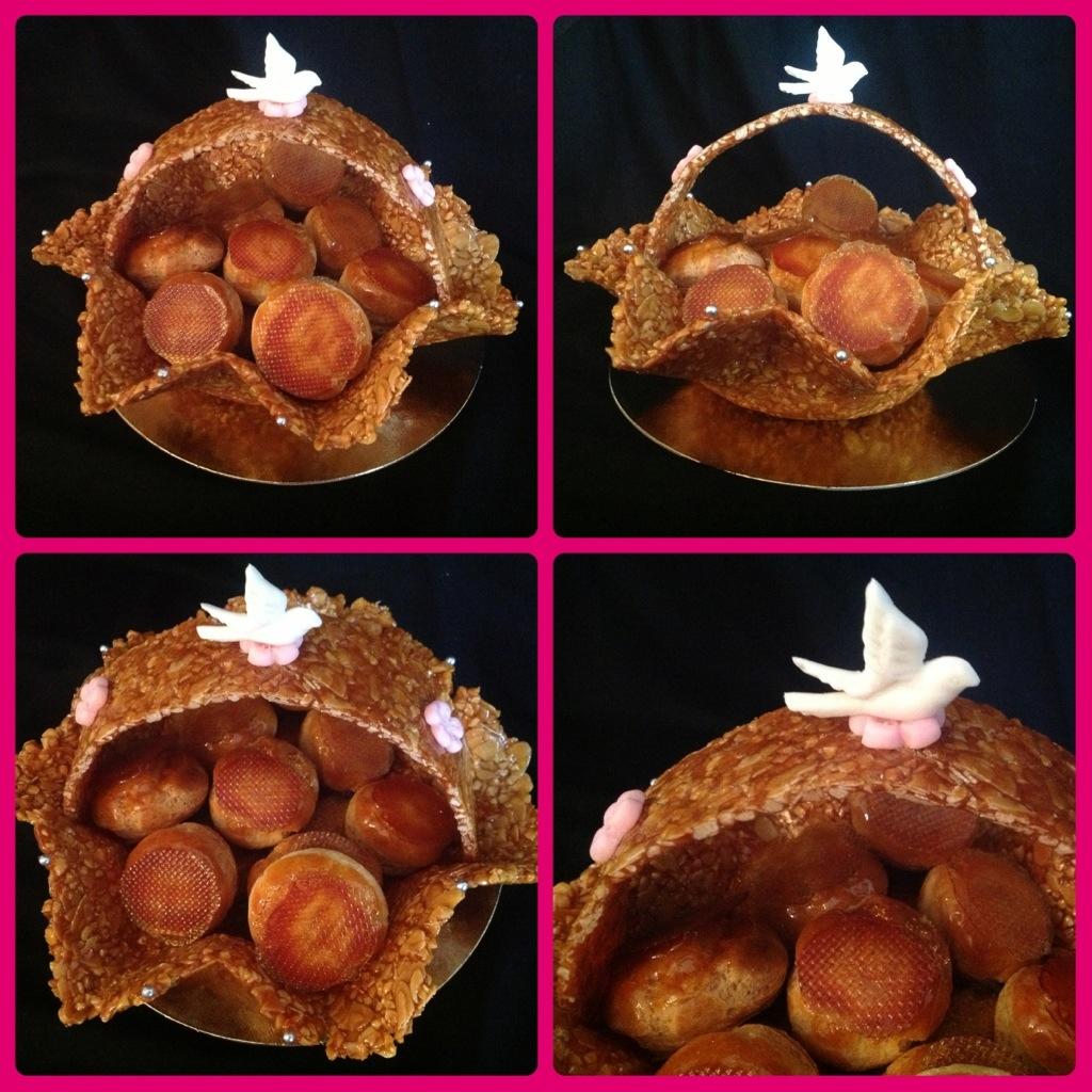 panier nougatine spécial Baptême- cours de pâtisserie Bordeaux
