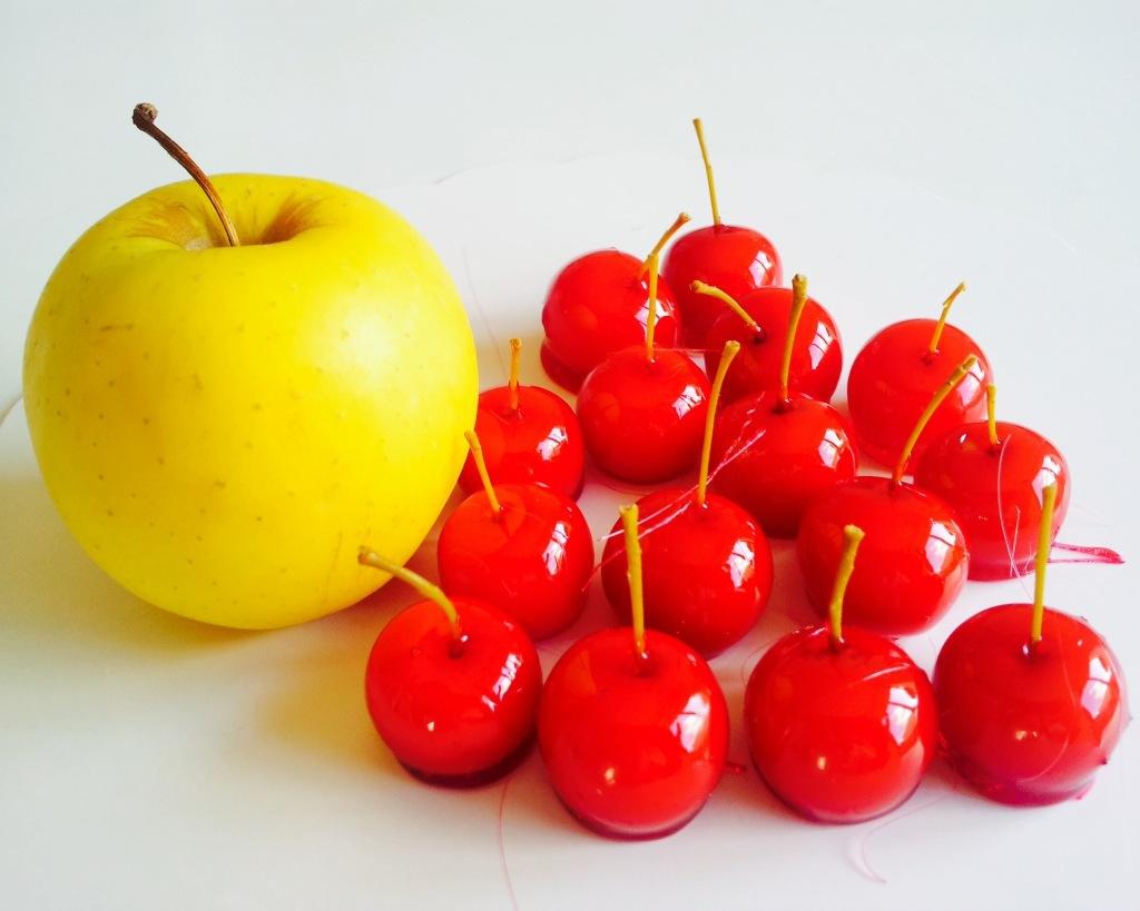 création mini pommes d'Amour avec votre chef patissier à domicile bordeaux et gironde