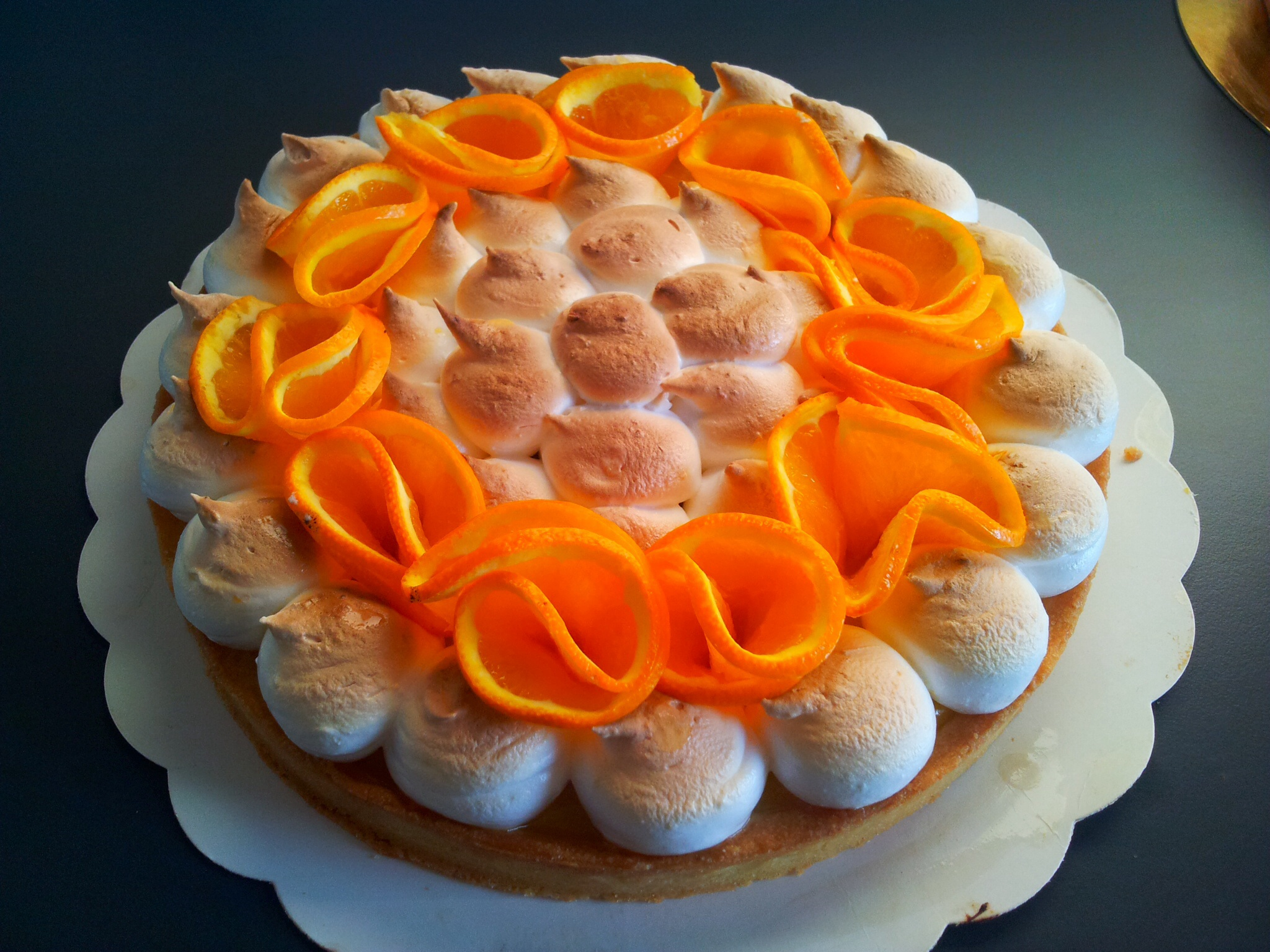 tarte à l'orange meringuée la sucrière cours de pâtisserie bordeaux et gironde