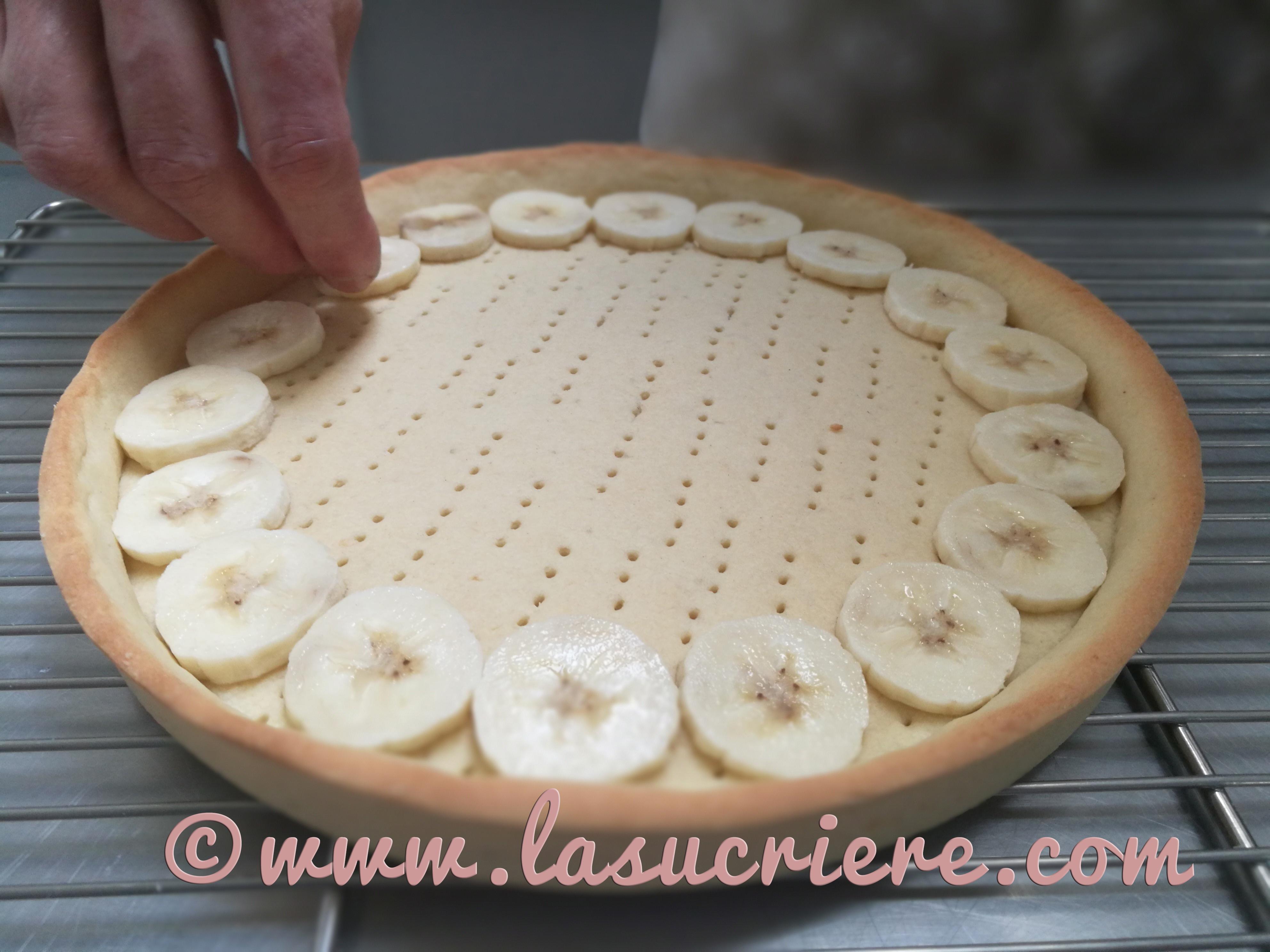Tarte chocolat banane épreuve CAP pâtissier