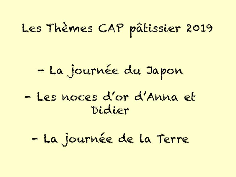 Les Thèmes Cap Pâtissier 2019 La Sucrière