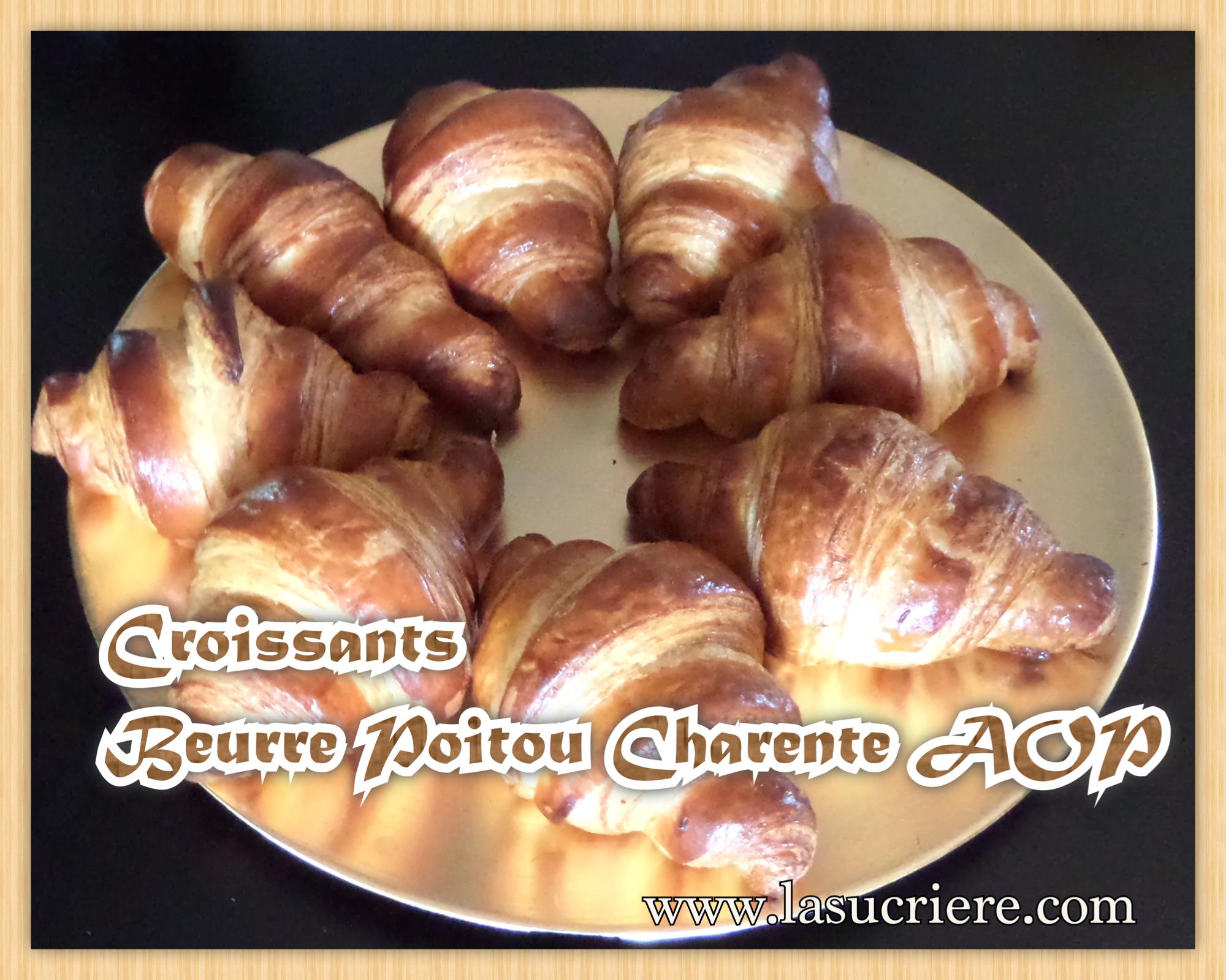 Croissants Beurre Poitou charente AOP atelier pâtisserie sur Bordeaux