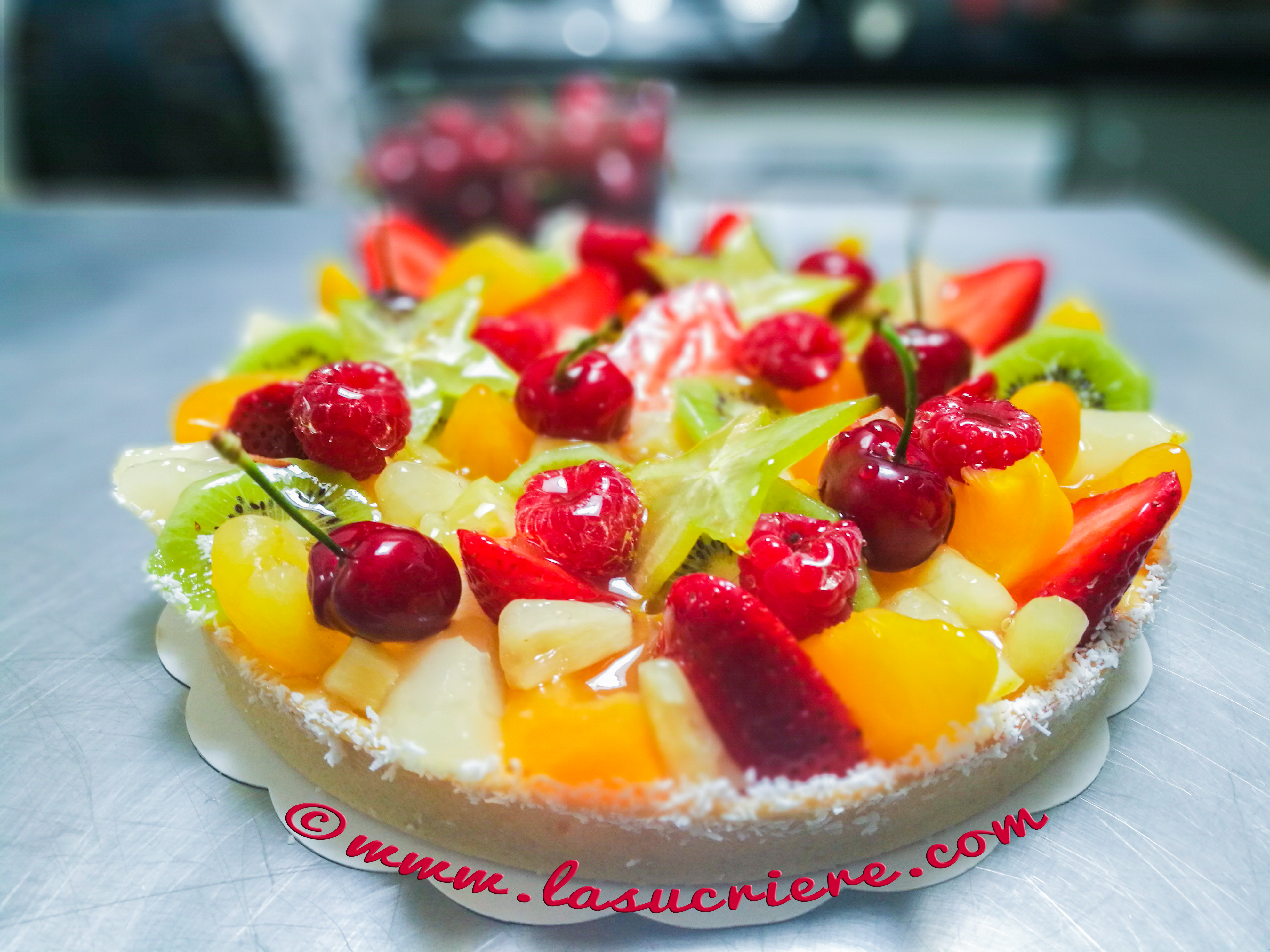 Tarte cocktail aux fruits frais